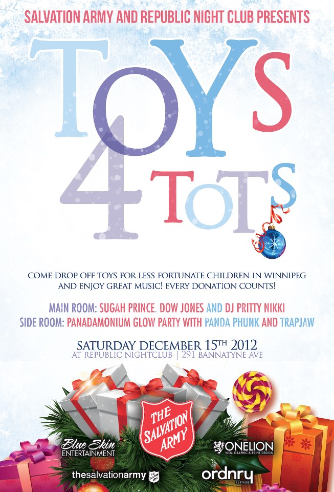 Toys 4 Tots Posters : Toys for tots at republic winnipeg poster pole